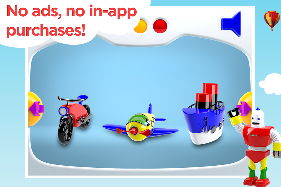 Screenshot Build and Play 3D –  Plane, Train, Robot and More